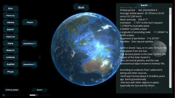 Screenshot Solar System
