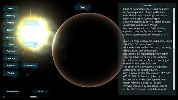 Screenshot Solar System