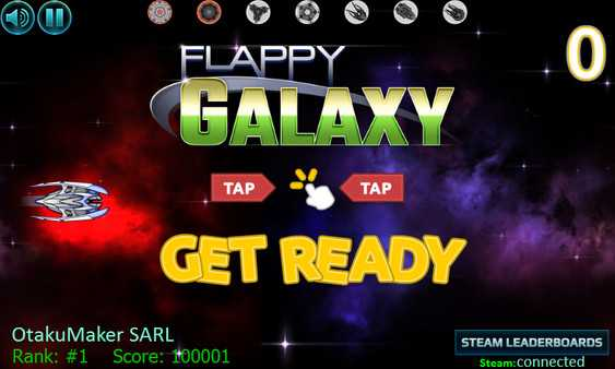 Screenshot Flappy Galaxy