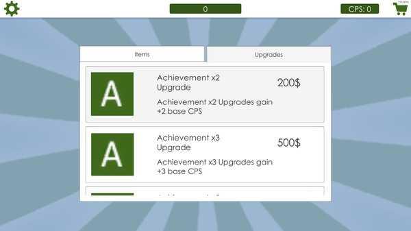 Screenshot Achievement Clicker 2019