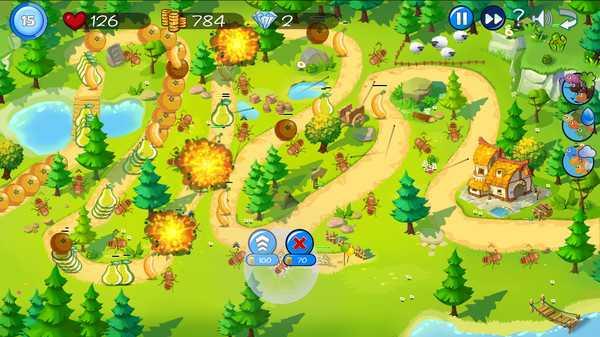 Screenshot Fruit Tower Defense